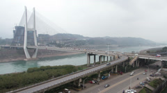 Zhongba bridge at daytime Stock Footage