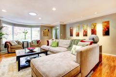 Elegant living room interior Stock Photos