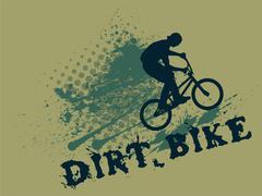 Dirt bike - stock illustration