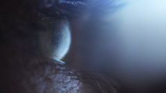 Extreme Close-Up Eye Stock Footage