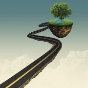 Road to another world, abstract environmental backgrounds Stock Illustration
