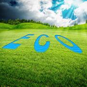 Eco meadow, abstract environmental backgrounds for your design Stock Illustration