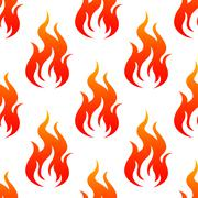 Leaping fiery flames seamless pattern Stock Illustration