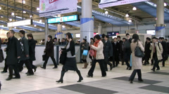 Tokyo Shinagawa Train Station (2) - stock footage
