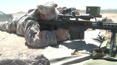 Soldiers Qualify on the M9 Pistol and MK-19 Grenade Launcher Stock Footage