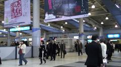 Tokyo Shinagawa Train Station (1) - stock footage