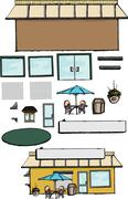 Build Your Own Store Stock Illustration