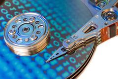 Hard drive internals Stock Photos