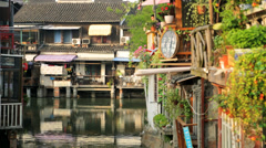 Zhujiajiao water Town historic area Shanghai China Asia - stock footage