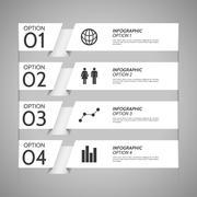 White Paper Infographic Option Background - stock illustration