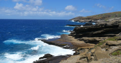 hawaii kai coastline, honolulu, oahu, hawaii. - stock footage