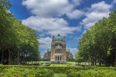 basilica sacred heart parc elisabeth brussels belgium - stock photo