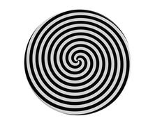 Hypnotic spiral - stock illustration