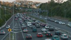 Time lapse congested traffic NW motorway Auckland - stock footage