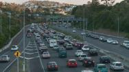 Stock Video Footage of Time lapse congested traffic NW motorway Auckland