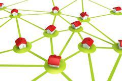 Symbolic settlement network Stock Illustration