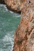 fisherman in cape saint vicent - stock photo