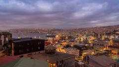 Valparaiso, Chile 24 Hour Time Lapse Stock Footage