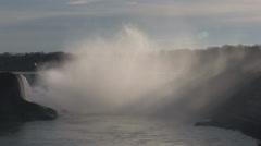 Horseshoe Falls in Niagara Falls Stock Footage