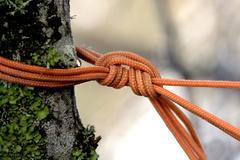The orange rope knon - stock photo