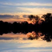 Nice sunset - stock photo