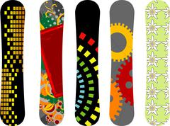 Snowboard design pack 4 Piirros