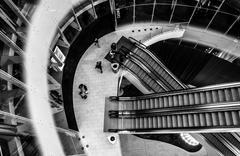 Downward view of escalators in revel casino hotel, in atlantic city, new jers Kuvituskuvat