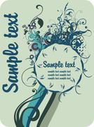 Abstract floral banner Stock Illustration