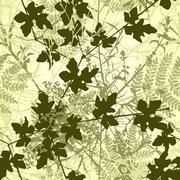 plant tile - stock illustration