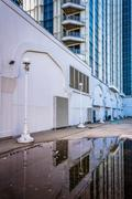 Reflections in a puddle of the trump taj mahal in atlantic city, new jersey. Kuvituskuvat
