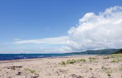 shore of superior lake - stock photo