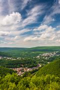 View of jim thorpe from flagstaff mountain, pennsylvania. Stock Photos