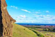 Stock Photo of single moai