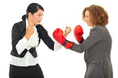 Competition fight business women Stock Photos