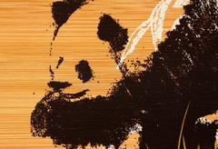 panda paint - stock photo