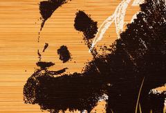 Panda paint Stock Photos
