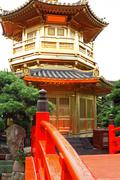 The Pavilion of Absolute Perfection in the Nan Lian Garden, Hong Kong. Stock Photos
