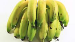 Banana on white background Stock Footage