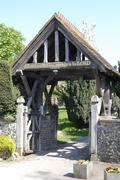 Churchyard entrance. Shoreham - stock photo