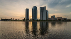 Timelapse of the sunset view at Putrajaya Stock Footage