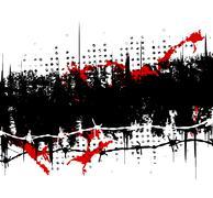 grunge stripe - stock illustration