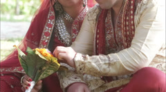 Indian bride groom bouquet Stock Footage