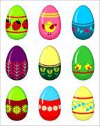 Stock Illustration of easter eggs set.