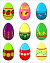 Stock Illustration of easter eggs set.