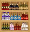 Stock Illustration of shop alcoholic beverages.