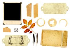 Collection elements for scrapbooking - stock illustration