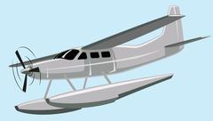 Seaplane Stock Illustration
