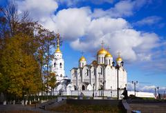 Assumption cathedral at Vladimir in autumn Stock Photos