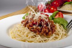 Bolognese spaghetti Stock Photos