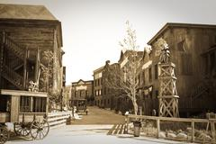 Wild west town - stock photo